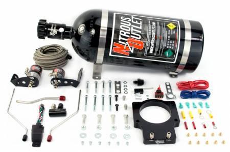 Nitrous Outlet - Nitrous Outlet 00-10118-90-10 -  90mm Fast Intake 98-02 F-body Hardline Plate System (50-200HP) (10lb Bottle)
