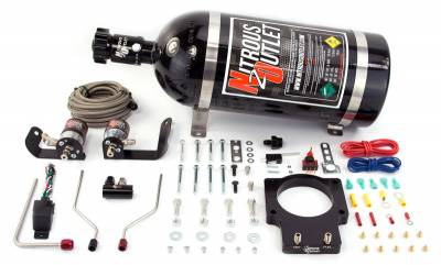 Nitrous Outlet - Nitrous Outlet 00-10121-LS2-10 -  90mm 05-06 GTO Hardline Plate System (50-200HP) (10lb Bottle)