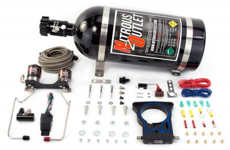 Nitrous Outlet - Nitrous Outlet 00-10127-10 -  78mm 99-06/2007 Classic GM Truck Hardline Plate System (50-200HP) (10lb Bottle)
