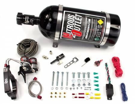 Nitrous Outlet - Nitrous Outlet 00-10145-10 -  11+ Mustang GT/F-150 5.0 Hardline Plate System (50-200HP) (10lb Bottle)