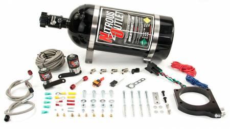 Nitrous Outlet - Nitrous Outlet 00-10176-10 -  2009-2014 CTS-V 102mm Plate system (50-200HP) (10LB Bottle) (55 PSI)