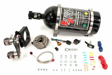Nitrous Outlet - Nitrous Outlet 00-10177-10 -  2014+ 5.3L L83 Chevy Truck 83MM Hardline Plate System (50-200HP) (10Lb Bottle)