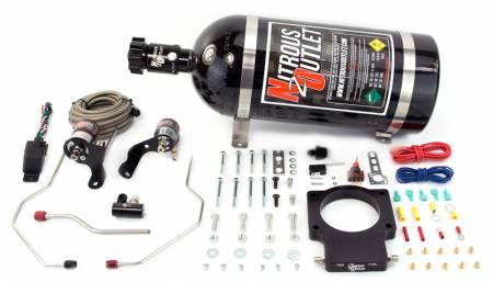 Nitrous Outlet - Nitrous Outlet 00-10120-90-10 -  90mm 08-09 G8 GT/GXP Hardline Plate System (50-200HP) (10lb Bottle)