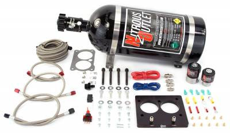 Nitrous Outlet - Nitrous Outlet 00-10100-10 -  52mm LT1/TPI Plate System (50-200HP) (10lb Bottle)