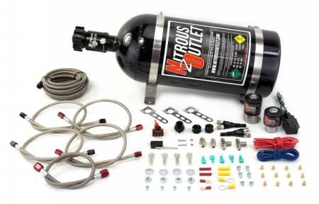Nitrous Outlet - Nitrous Outlet 00-10002-15 -  GM EFI Dual Nozzle System (70-200HP) (15lb Bottle)