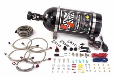 Nitrous Outlet - Nitrous Outlet 00-10012-15 -  Ford EFI Dual Nozzle System (70-200HP) (15lb Bottle)