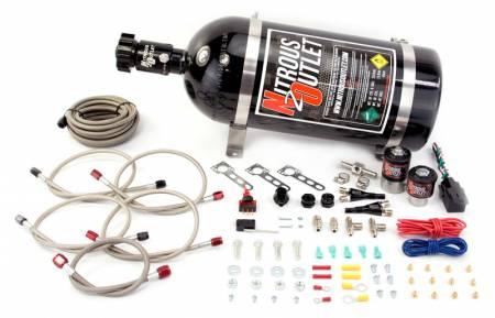 Nitrous Outlet - Nitrous Outlet 00-10032-15 -  Import EFI Dual Nozzle System (70-200HP) (15lb Bottle)