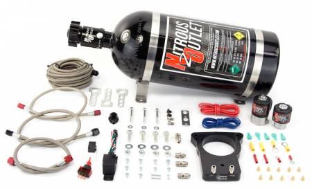 Nitrous Outlet - Nitrous Outlet 00-10102-15 -  78mm LSX Plate System (50-200HP) (15lb Bottle) ( For 97-04 Corvette part # 00-42000 is needed )