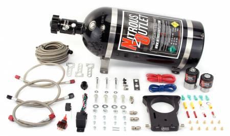 Nitrous Outlet - Nitrous Outlet 00-10106-15 -  78mm LSX Truck Plate System (50-200HP) (15lb Bottle)