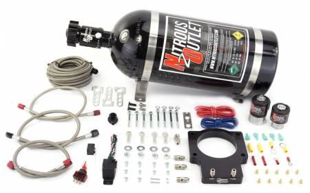 Nitrous Outlet - Nitrous Outlet 00-10108-15 -  90mm LSX Plate System (50-200HP) (15lb Bottle) ( For 97-04 Corvette part # 00-42000 is needed )