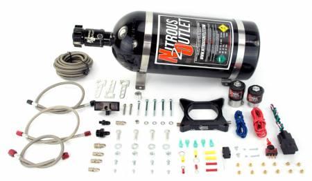 Nitrous Outlet - Nitrous Outlet 00-10140-15 -  96-04 Mustang GT Plate System (50-200HP) (15lb Bottle)