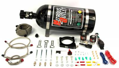 Nitrous Outlet - Nitrous Outlet 00-10144-15 -  11+ Mustang GT/F-150 5.0  Plate System (50-200HP) (15lb Bottle)