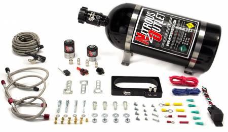 Nitrous Outlet - Nitrous Outlet 00-10152-15 -  2007-2014 GT 500 Mustang Plate System (50-200HP) (15LB Bottle)