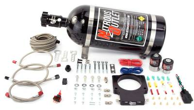 Nitrous Outlet - Nitrous Outlet 00-10107-15 -  90mm GM Truck Plate System (50-200HP) (15lb bottle)