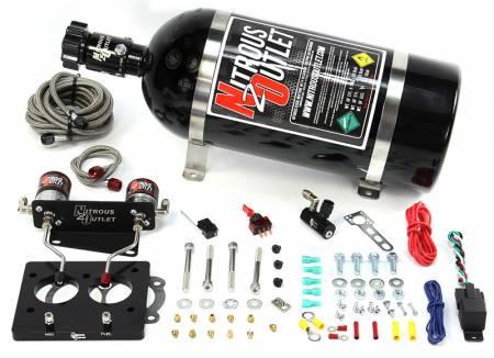 Nitrous Outlet - Nitrous Outlet 00-10117-58-10 -  58mm 93-97 LT1 Hardlined Plate System (50-200HP) (10lb Bottle)