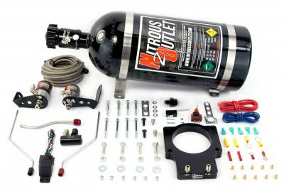 Nitrous Outlet - Nitrous Outlet 00-10118-90-15 -  90mm Fast Intake 98-02 F-body Hardline Plate System (50-200HP) (15lb Bottle)