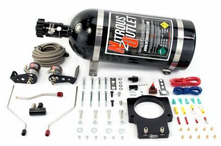 Nitrous Outlet - Nitrous Outlet 00-10118-92-15 -  92mm Fast Intake 98-02 F-body Hardline Plate System (50-200HP) (15lb Bottle)