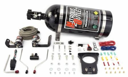 Nitrous Outlet - Nitrous Outlet 00-10121-78-15 -  78mm 04' GTO Hardline Plate System (50-200HP) (15lb Bottle)