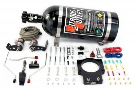 Nitrous Outlet - Nitrous Outlet 00-10121-90-15 -  90mm Fast Intake 04-06 GTO Hardline Plate System (50-200HP) (15lb Bottle)