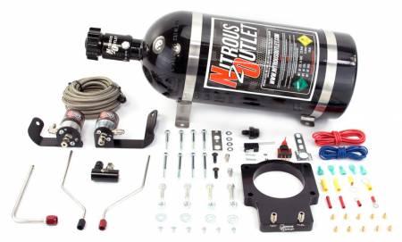Nitrous Outlet - Nitrous Outlet 00-10123-90-FST-15 -  90mm Fast Intake 05-09 C6 Corvette Hardline Plate System (50-200HP) (15lb Bottle)