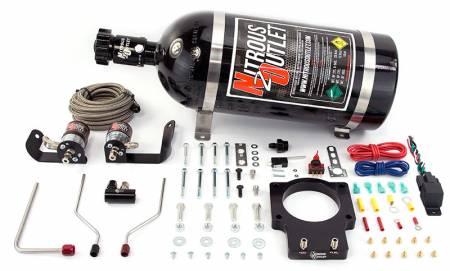 Nitrous Outlet - Nitrous Outlet 00-10123-92-15 -  92mm Fast Intake 05-09 C6 Corvette Hardline Plate System (50-200HP) (15lb Bottle)