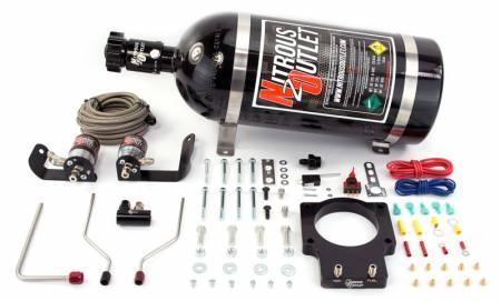 Nitrous Outlet - Nitrous Outlet 00-10123-LS2-15 -  90mm 05-07 C6 LS2 Corvette Hardline Plate System (50-200HP) (15lb Bottle)