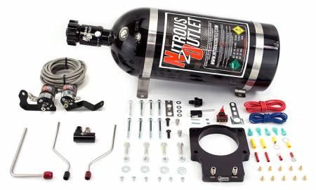 Nitrous Outlet - Nitrous Outlet 00-10124-90-15 -  90mm 05-13 ZO6 Corvette Plate System (50-200HP) (15lb Bottle)