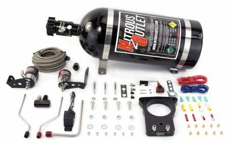 Nitrous Outlet - Nitrous Outlet 00-10126-78-15 -  78mm 04-05 CTS-V Hardline Plate System (50-200HP) (15lb bottle)