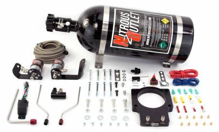 Nitrous Outlet - Nitrous Outlet 00-10126-90-15 -  90mm 06-07 CTS-V Hardline Plate System (50-200HP) (15lb Bottle)