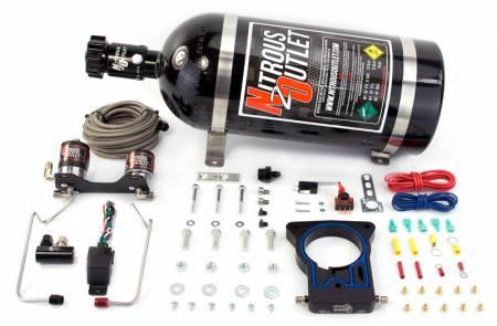 Nitrous Outlet - Nitrous Outlet 00-10127-15 -  78mm 99-06/2007 Classic GM Truck Hardline Plate System (50-200HP) (15lb Bottle)