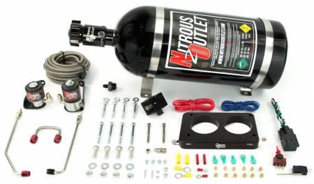 Nitrous Outlet - Nitrous Outlet 00-10143-15 -  05-10 Mustang GT Hardline Plate System (50-200HP) (15lb Bottle)