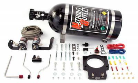 Nitrous Outlet - Nitrous Outlet 00-10123-LS3-15 -  90mm 2008-2013 C6 LS3 Corvette Hardline Plate System (50-200HP) (15lb Bottle)