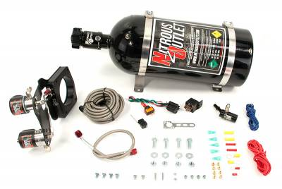Nitrous Outlet - Nitrous Outlet 00-10177-15 -  2014+ 5.3L L83 Chevy Truck 83MM Hardline Plate System (50-200HP) (15Lb Bottle)