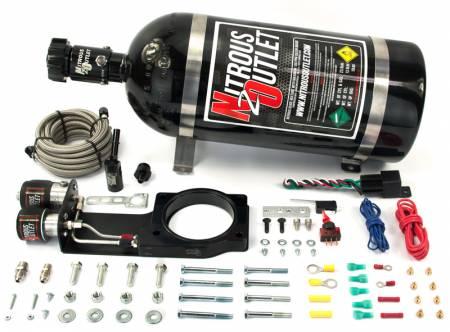 Nitrous Outlet - Nitrous Outlet 00-10149-15 -  2014 LT1 Corvette Hardline Plate System (50-200HP) (15lb Bottle)