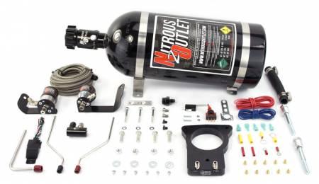 Nitrous Outlet - Nitrous Outlet 00-10122-78-15 -  78mm 97-04 Corvette Hardline Plate System (50-200HP) (15lb Bottle)