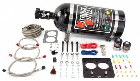 Nitrous Outlet - Nitrous Outlet 00-10101-15 -  58mm LT1/TPI Plate System (50-200HP) (15lb Bottle)
