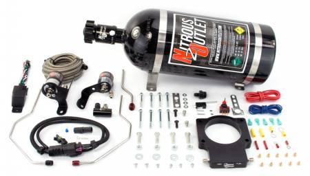 Nitrous Outlet - Nitrous Outlet 00-10119-90-15 -  90mm 2010-2015 Camaro Hardline Plate System (50-200HP) (15lb Bottle)