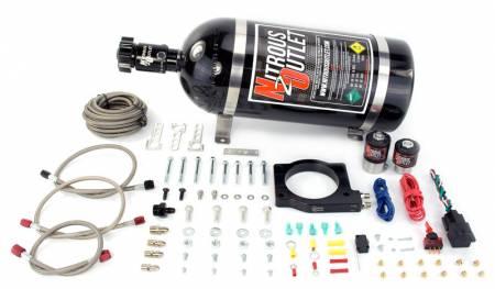 Nitrous Outlet - Nitrous Outlet 00-10125-15 -  90mm MagnaCharger Nitrous Plate Kit (50-200HP) (15lb Bottle)