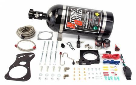 Nitrous Outlet - Nitrous Outlet 00-10137-80-15 -  80mm 6.1 Hemi Intake Hardline Plate System (50-200HP) (15lb Bottle)