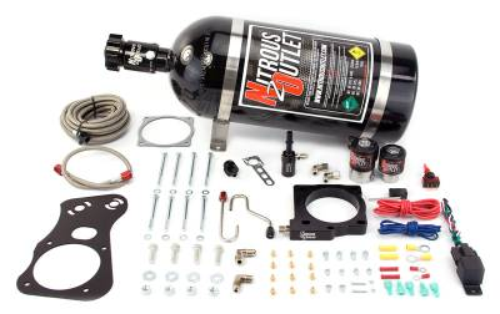 Nitrous Outlet - Nitrous Outlet 00-10137-85-15 -  85mm 6.1 Hemi Intake Hardline Plate System (50-200HP) (15lb Bottle)