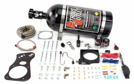 Nitrous Outlet - Nitrous Outlet 00-10137-90-15 -  90mm 6.1 Hemi Intake Hardline Plate System (50-200HP) (15lb Bottle)