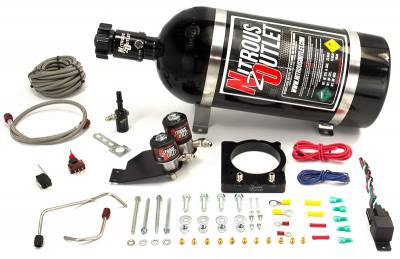 Nitrous Outlet - Nitrous Outlet 00-10139-15 -  2011-2014 6.4 Hemi Hardline Plate System (50-200HP) (15lb Bottle)