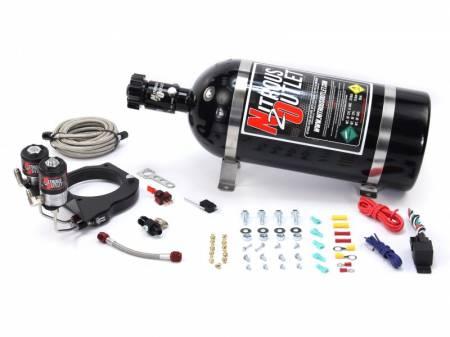 Nitrous Outlet - Nitrous Outlet 00-10181-15 -  2003-2013 FAST 102mm Truck Intake Hardline Plate System (50-200HP) (15LB Bottle)