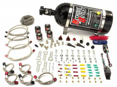Nitrous Outlet - Nitrous Outlet 00-10013-15 -  Ford EFI Dual Stage Single Nozzle System (35-200HP) (15lb Bottle)