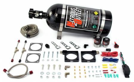 Nitrous Outlet - Nitrous Outlet 00-10132-15 -  92-02 Dodge Viper Hardline Plate System (70-200HP) (15lb bottle)