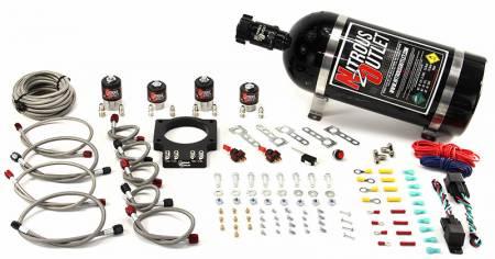 Nitrous Outlet - Nitrous Outlet 00-10109-10 -  90mm LSX Dual Stage Plate System (50-200HP) (10lb Bottle)( For 97-04 Corvette part # 00-42000 is needed )