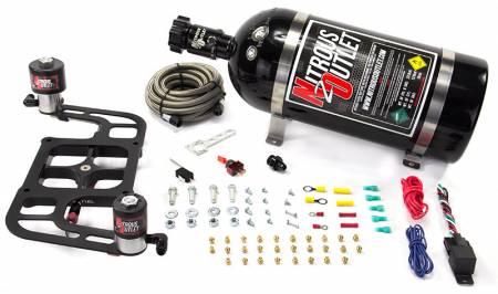 Nitrous Outlet - Nitrous Outlet 00-10656-10 -  Race 4500 Stinger Plate System, With Boomerang 2 Solenoid Bracket (50-500hp) (5-7-10psi) (10LB Bottle)