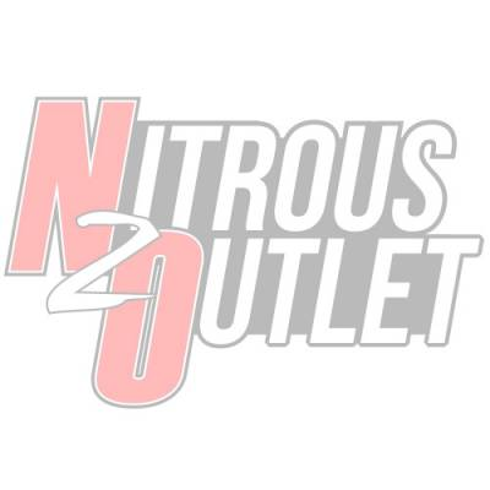 Nitrous Outlet - Nitrous Outlet 00-10474-E85-L-R-10 -  8 Cylinder 4 Solenoids Direct Port System With Dual Rails (E85) (5-7-10 PSI) (100-400HP) (10Lb Bottle) (90? Nozzle's) (.112 Nitrous Solenoid and .177 Fuel Solenoid)
