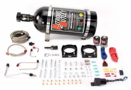 Nitrous Outlet - Nitrous Outlet 00-10155-15 -  2008-Current Dodge Viper Hard-lined Plate System (70-200HP) (15lb Bottle)
