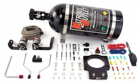Nitrous Outlet - Nitrous Outlet 00-10123-92-12 -  92mm Fast Intake 05-09 C6 Corvette Hardline Plate System (50-200HP) (12lb Bottle)